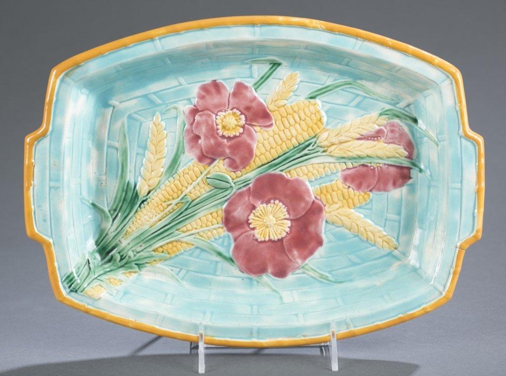 Majolica Wedgwood Corn, Wheat & Poppy Tray