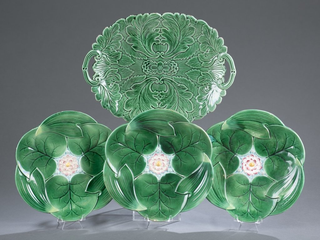 Four Pieces of 19th c. Majolica