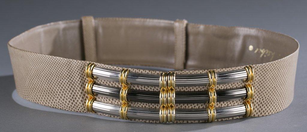 Judith Leiber Snakeskin Belt