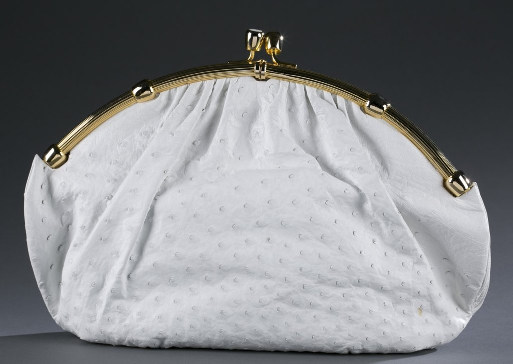 Judith Leiber Ostrich Leather Purse