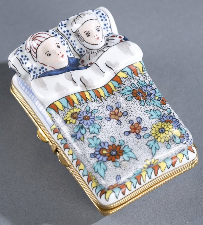 Hand-Painted Porcelain Pill Box
