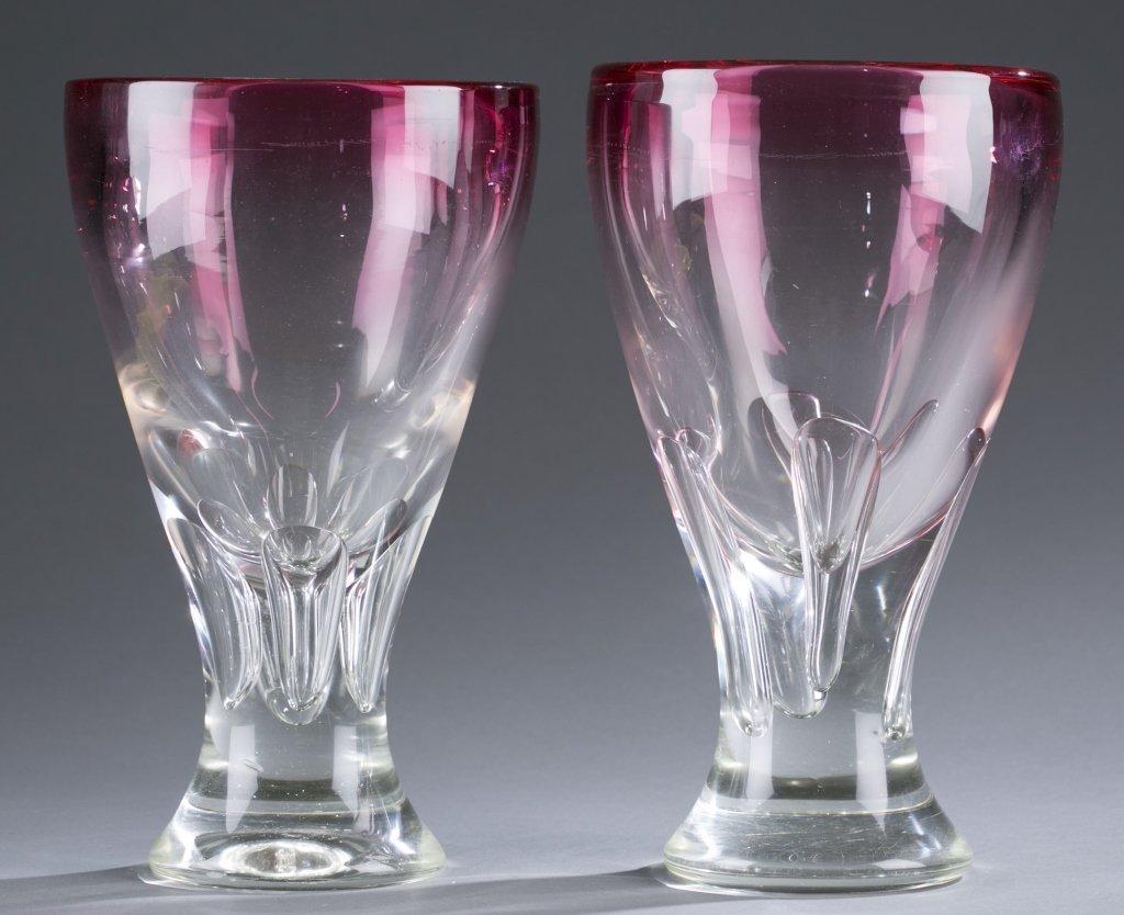 Pair of Lead Crystal Vases