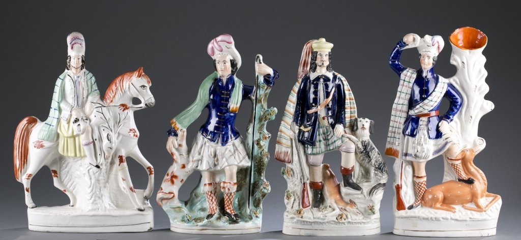 Four Pieces of Early Staffordshire