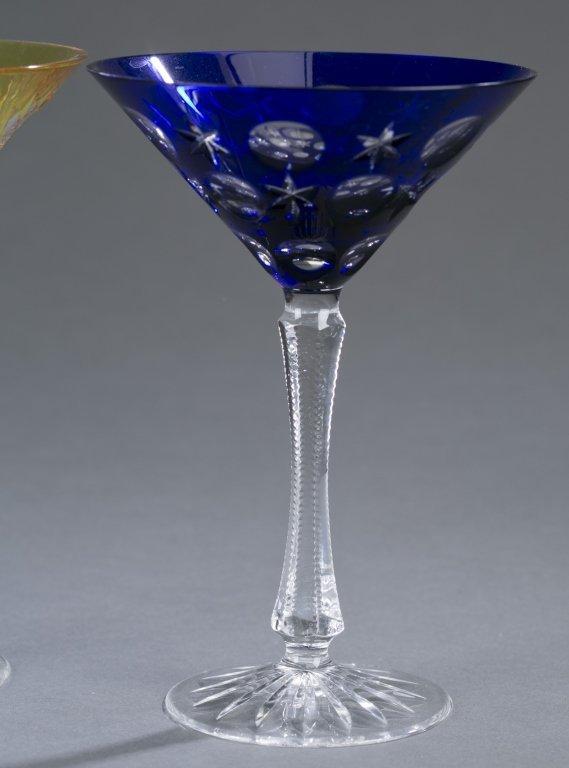 Three Fabergé Cut Crystal Martini Glasses - 4