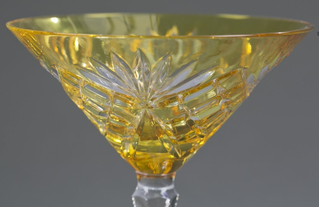 Three Fabergé Cut Crystal Martini Glasses - 6