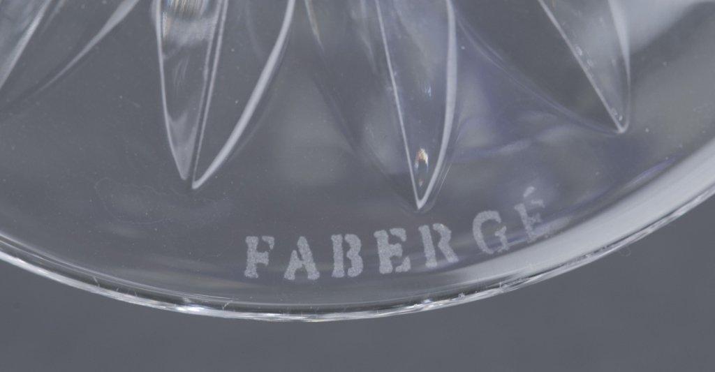 Three Fabergé Cut Crystal Martini Glasses - 8