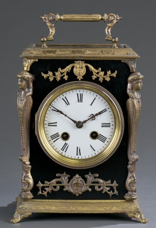 Neoclassical Japy Freres Mantel Clock