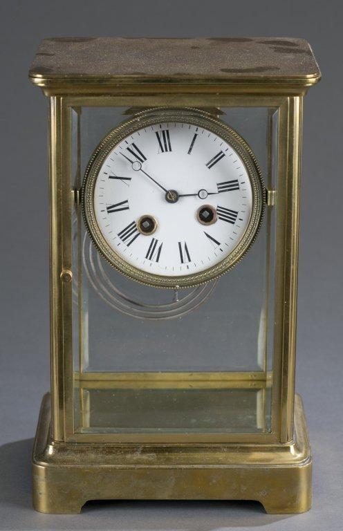French Brass Mantel Clock