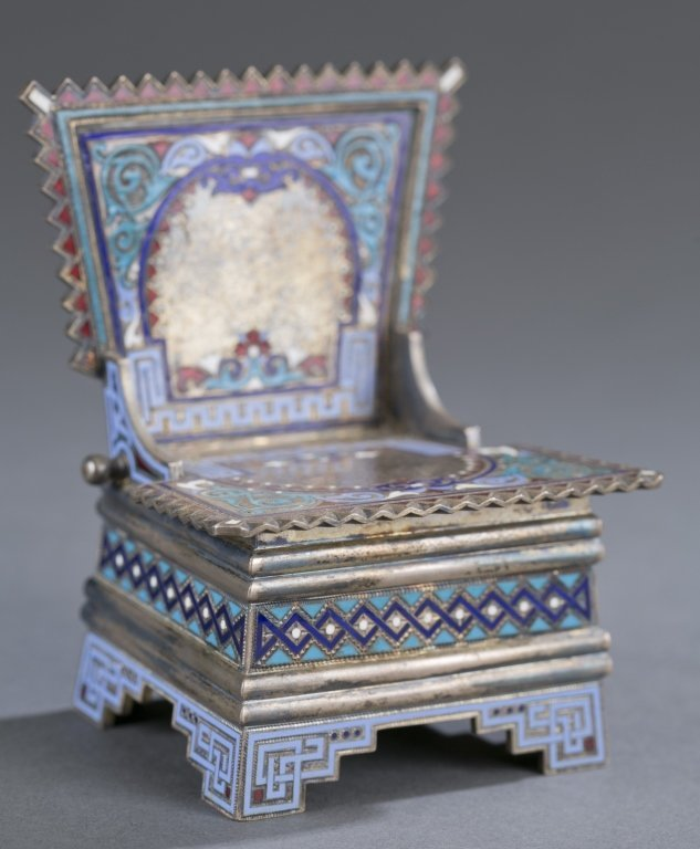 Russian Enameled Salt Throne
