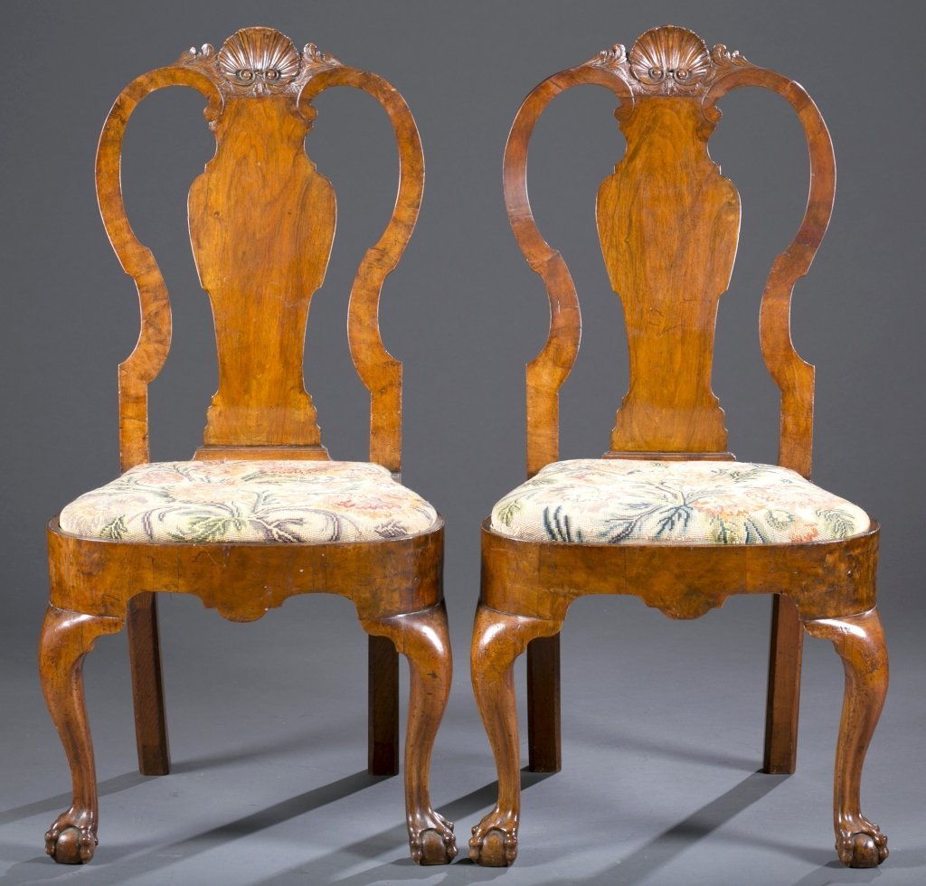 Four 18th c. George I Side Chairs