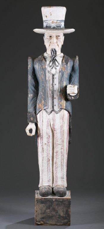Ca. 1920 Uncle Sam Trade Store Statue