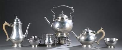 George V Sterling Six-Piece Coffee & Tea Service