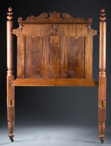Cherry & Flame Mahogany Four-Poster Bed c.1850.