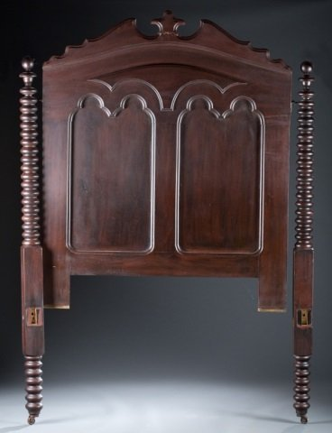 Mahogany Turned Four-Poster Bed c.1850.