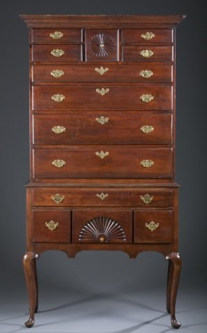 18th c. Pennsylvania Cherry High Chest-of-Drawers.