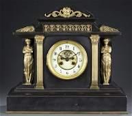 French F. Marti Neoclassical-Style Mantel Clock.