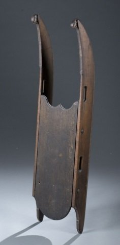 19th C. Child's Wooden Sled.