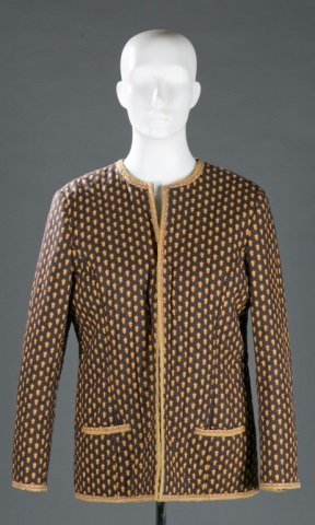 Quilted Cotton Patterned Jacket c.1970s
