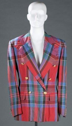 Ralph Lauren Linen Blend Plaid Blazer, c.1970s.