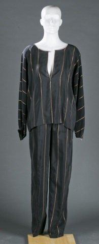 Geoffrey Beene Silk Blend Top & Pant Set, c.1970s.