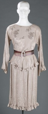 Geoffrey Beene Silk Top & Skirt Outfit, c.1970s.