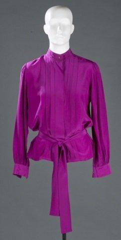Three Saint Laurent Paris Silk Blouses, c.1970s.