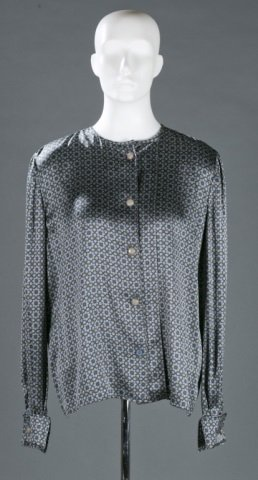 Valentino Boutique Silk Patterned Blouse, c.1980s.