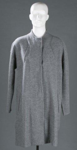 Eileen Fisher Wool Stand Collar Coat, c.2000s.