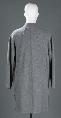 Eileen Fisher Wool Stand Collar Coat, c.2000s. - 4