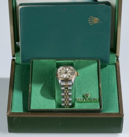 Ladies' Rolex Oyster Perpetual Date Wristwatch.