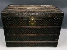 Louis Vuitton Damier Steamer Trunk, 19th/20th c.