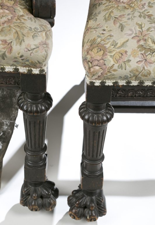Eight Ornately Carved Jacobean Revival Chairs. - 3