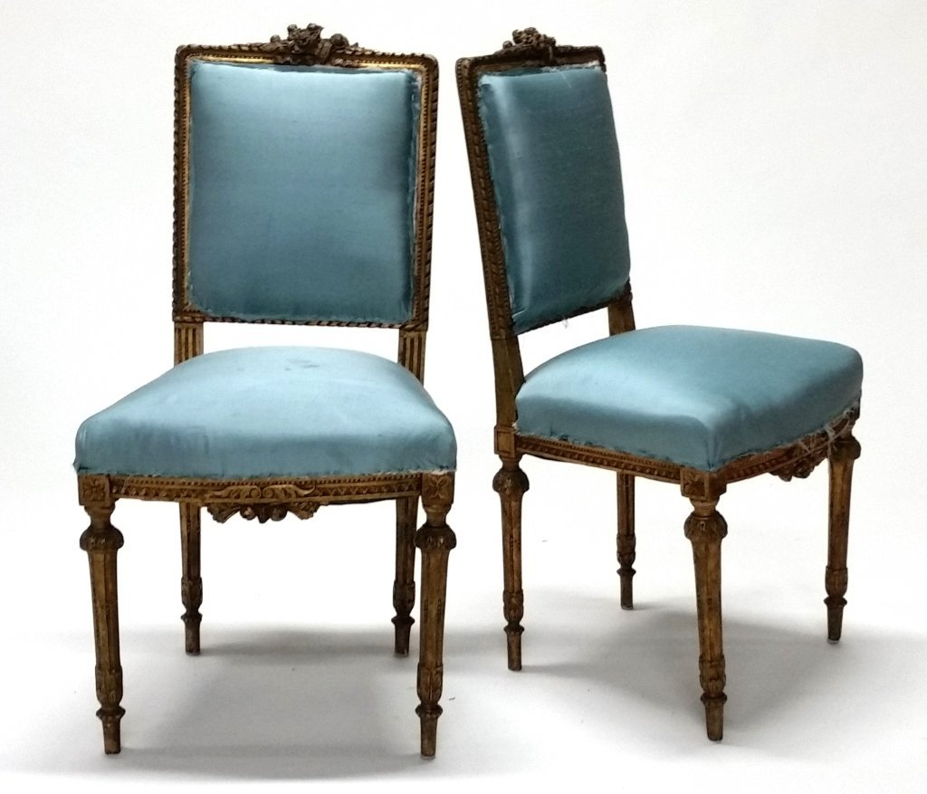 Pair of Early 19th c. Louis XVI Side Chairs. - 2