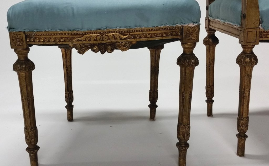 Pair of Early 19th c. Louis XVI Side Chairs. - 5