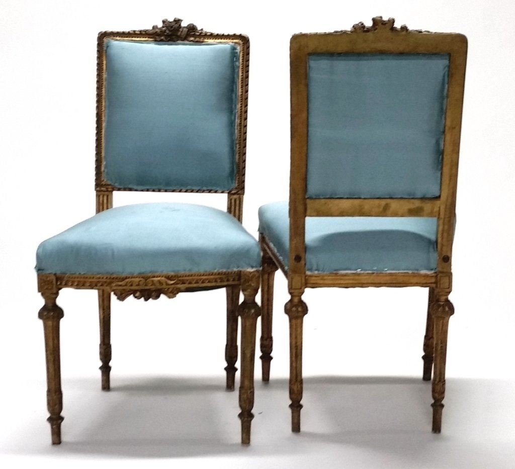 Pair of Early 19th c. Louis XVI Side Chairs. - 6