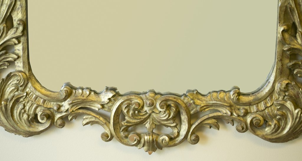 Late 19th/Early 20th c. Gilt-Framed Mirror. - 3