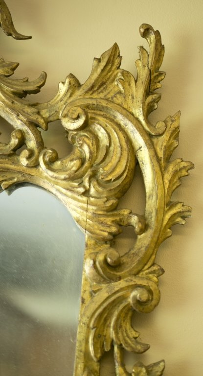 Late 19th/Early 20th c. Gilt-Framed Mirror. - 5