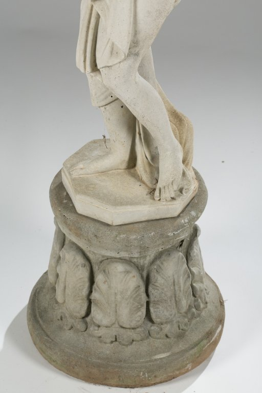 20th c. Neoclassical-Style Pandora Statue on Base. - 3