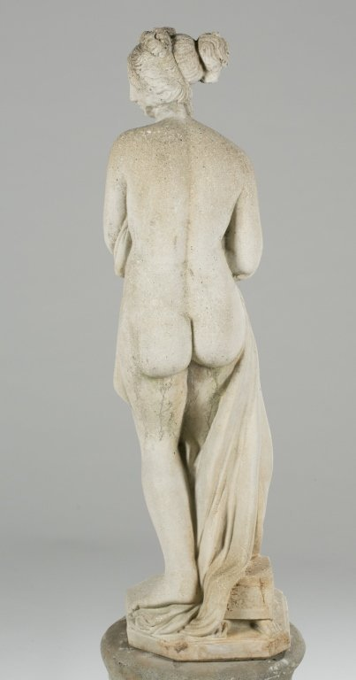 20th c. Neoclassical-Style Pandora Statue on Base. - 4