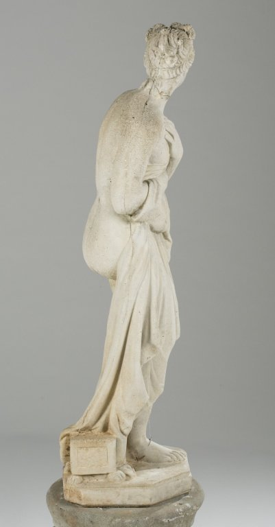 20th c. Neoclassical-Style Pandora Statue on Base. - 5