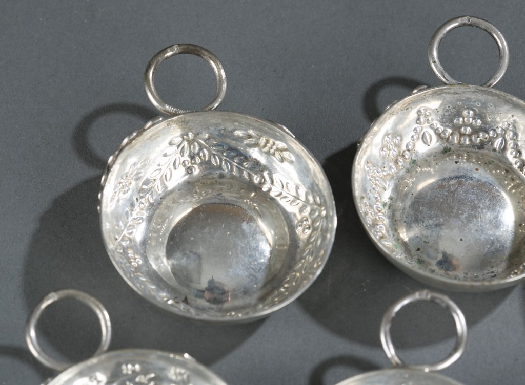 Group of Eight 19th c. Sterling Wine Tasters. - 3