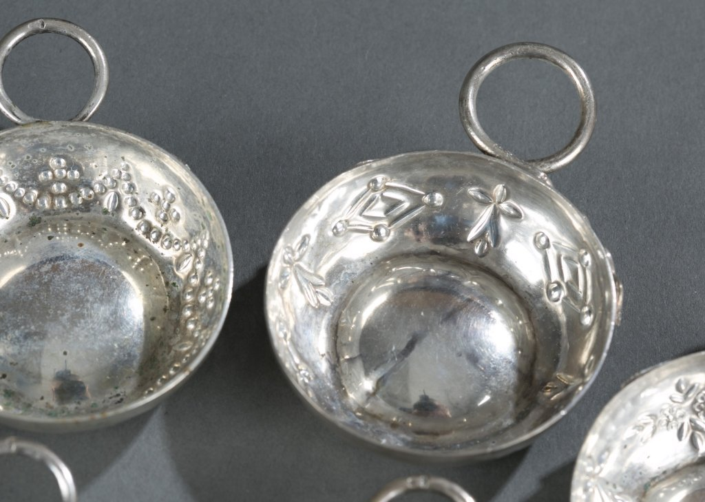 Group of Eight 19th c. Sterling Wine Tasters. - 4