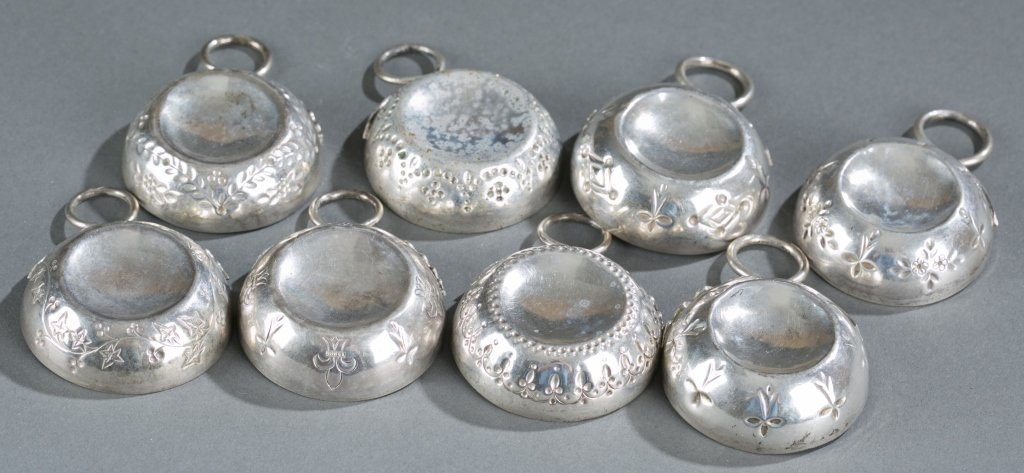 Group of Eight 19th c. Sterling Wine Tasters. - 6