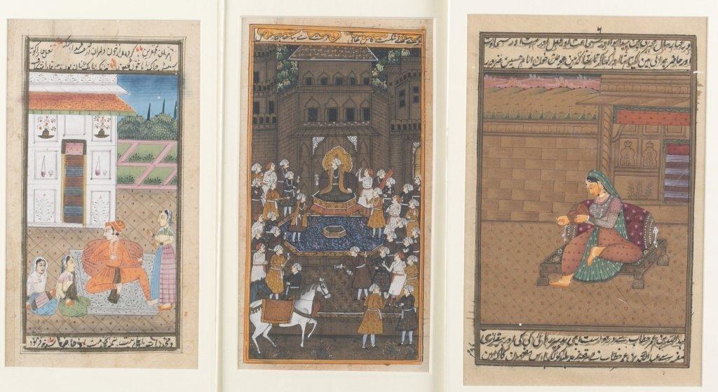 Six 20th c. Mughal School Miniature Paintings.