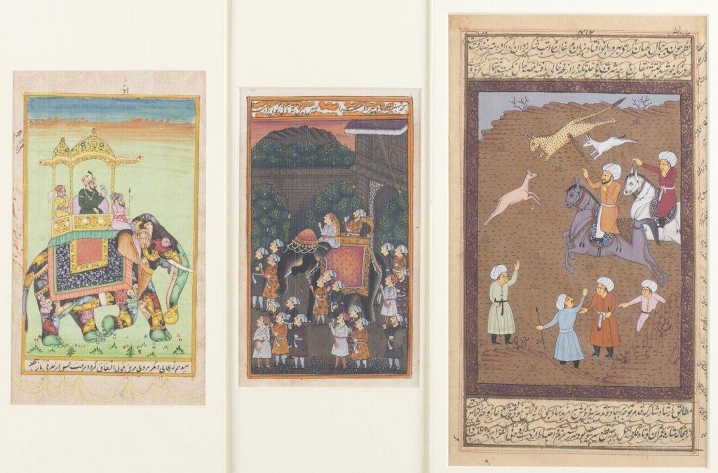Six 20th c. Mughal School Miniature Paintings. - 2