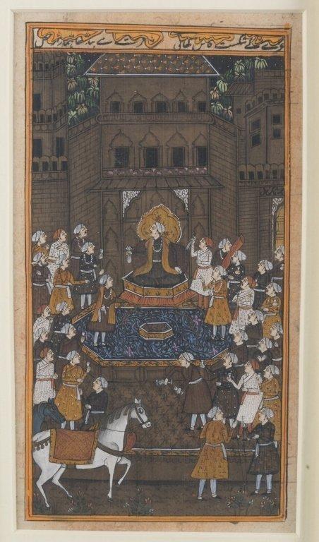 Six 20th c. Mughal School Miniature Paintings. - 4
