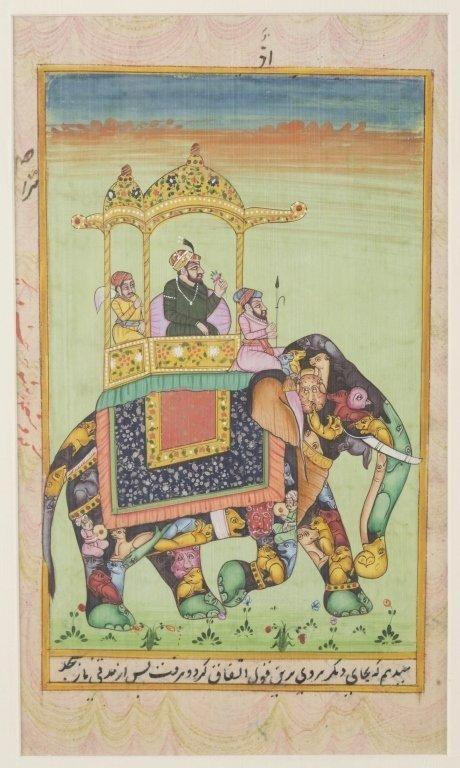 Six 20th c. Mughal School Miniature Paintings. - 6
