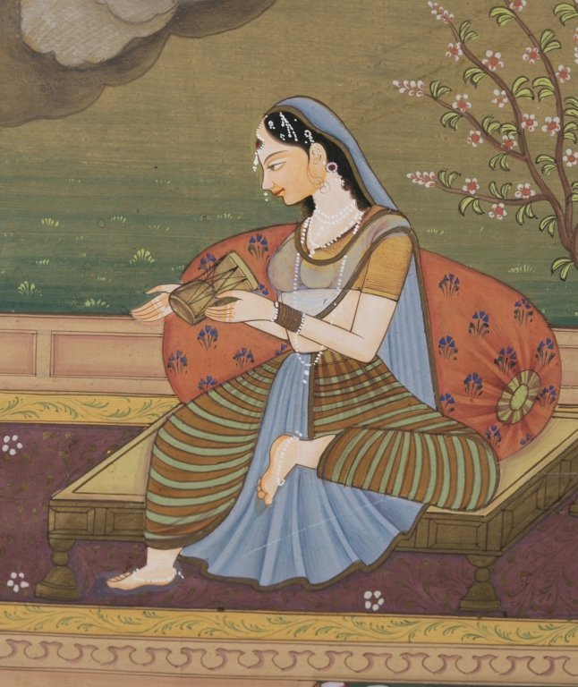 Six 20th c. Mughal School Miniature Paintings. - 10