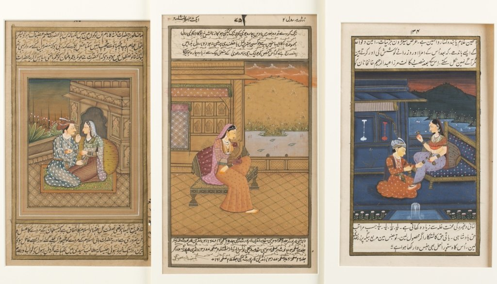 Six 20th c. Mughal School Miniature Paintings.