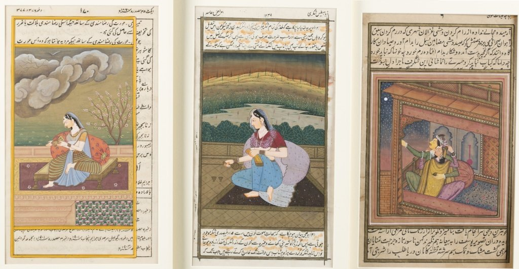 Six 20th c. Mughal School Miniature Paintings. - 2